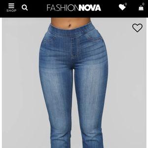 Fashion Nova Mid Rise Flare Jeans